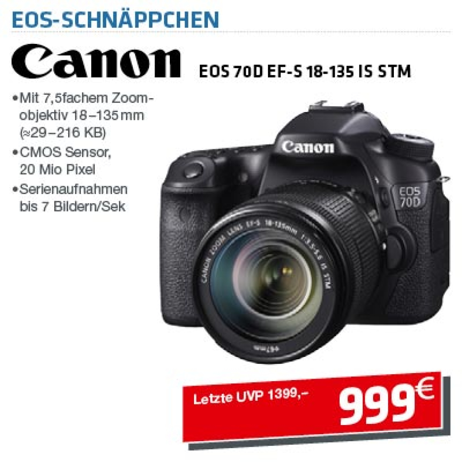 Canon EOS 70D + 18-135 IS STM Kit
